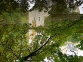 Wasserschloss mit Spiegelung 180 Grad gedreht
